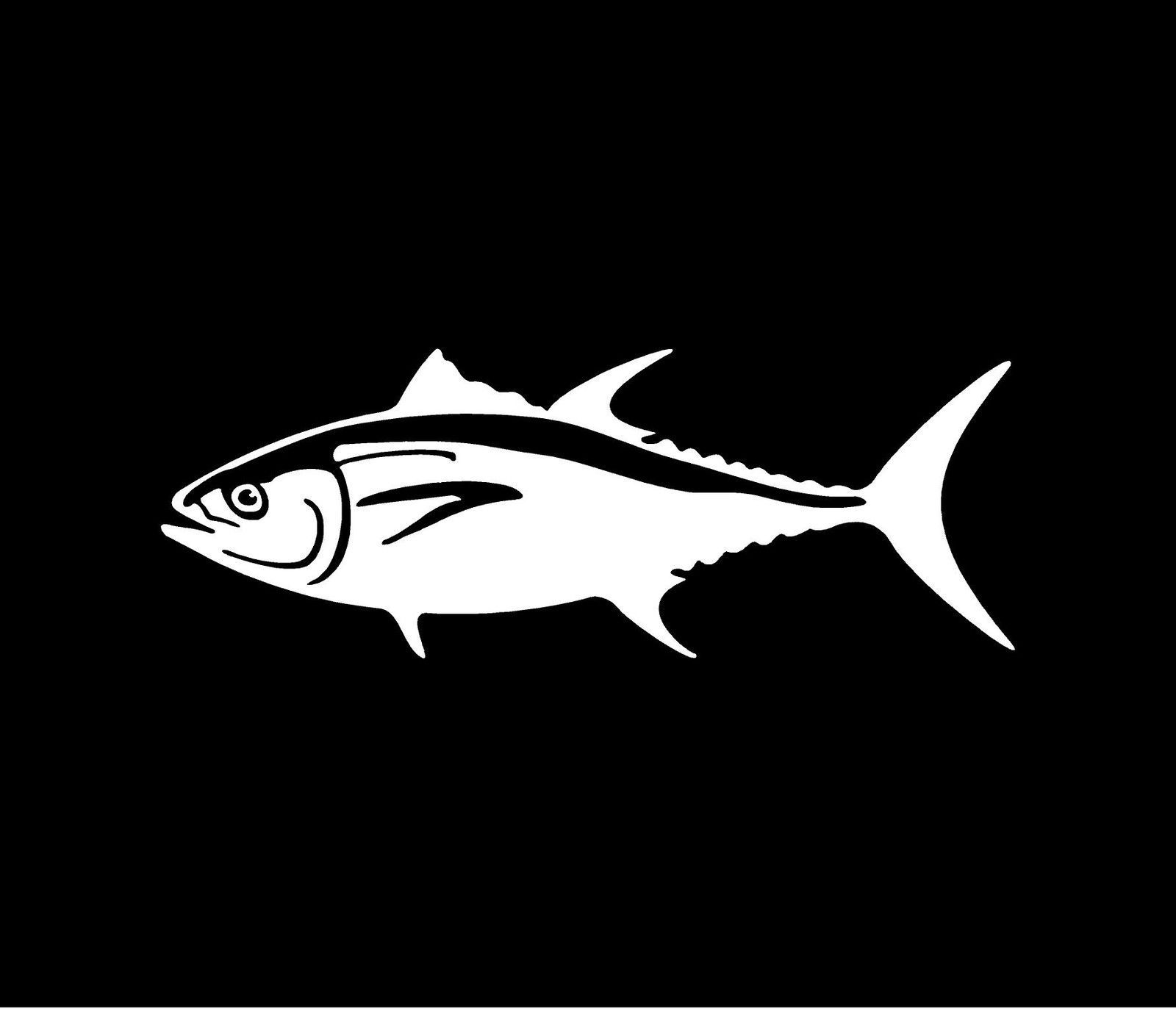 Bluefin tuna vinyl decal car window bumper sticker striper for Fishing car stickers