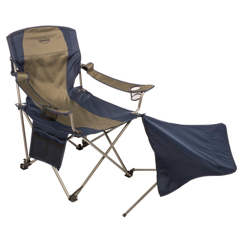 Outdoor Kamp Rite Folding Lawn Chair With Removable Foot Rest