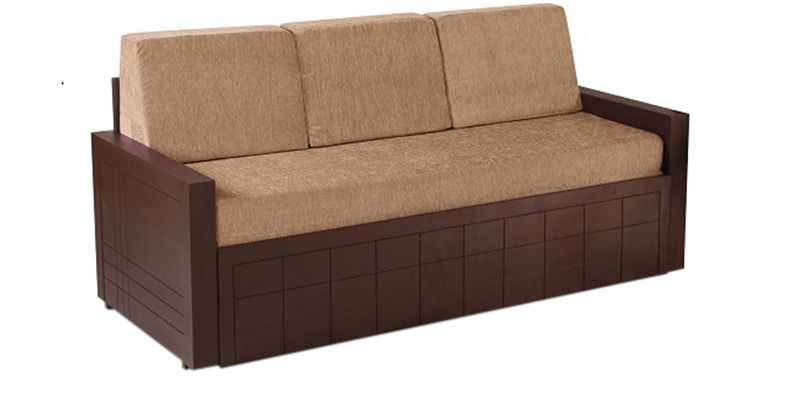Buy Madelyn Sofa Cum Bed in Brown Colour by Auspicious Online Shop