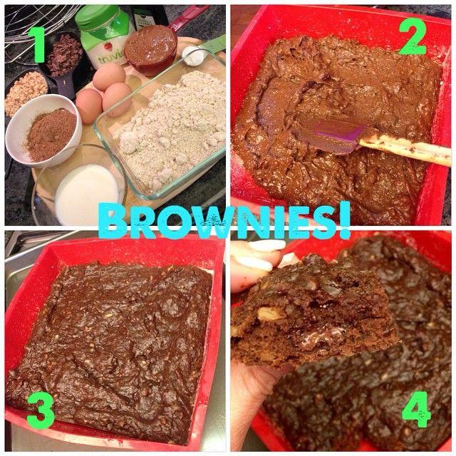 Brownies Sin Azúcar Receta Confirmada 1 En Una Batidora Colocar 1 2 Taza De Endulzante A Base De Estevia Sin Calor Healthy Desserts Desserts Bakery
