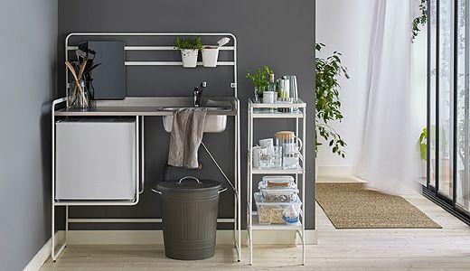 Miniküche Mit Kühlschrank Ohne Kochfeld : Sunnersta miniküchen ermöglichen dir ohne renovierungsbedarf einen