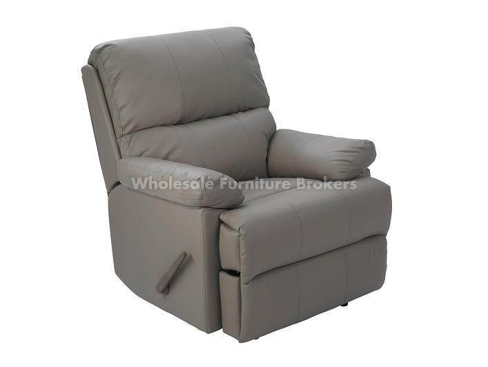 lazyboy style taupe leather recliner by stanley chair - Lazy Boy Leather Recliners