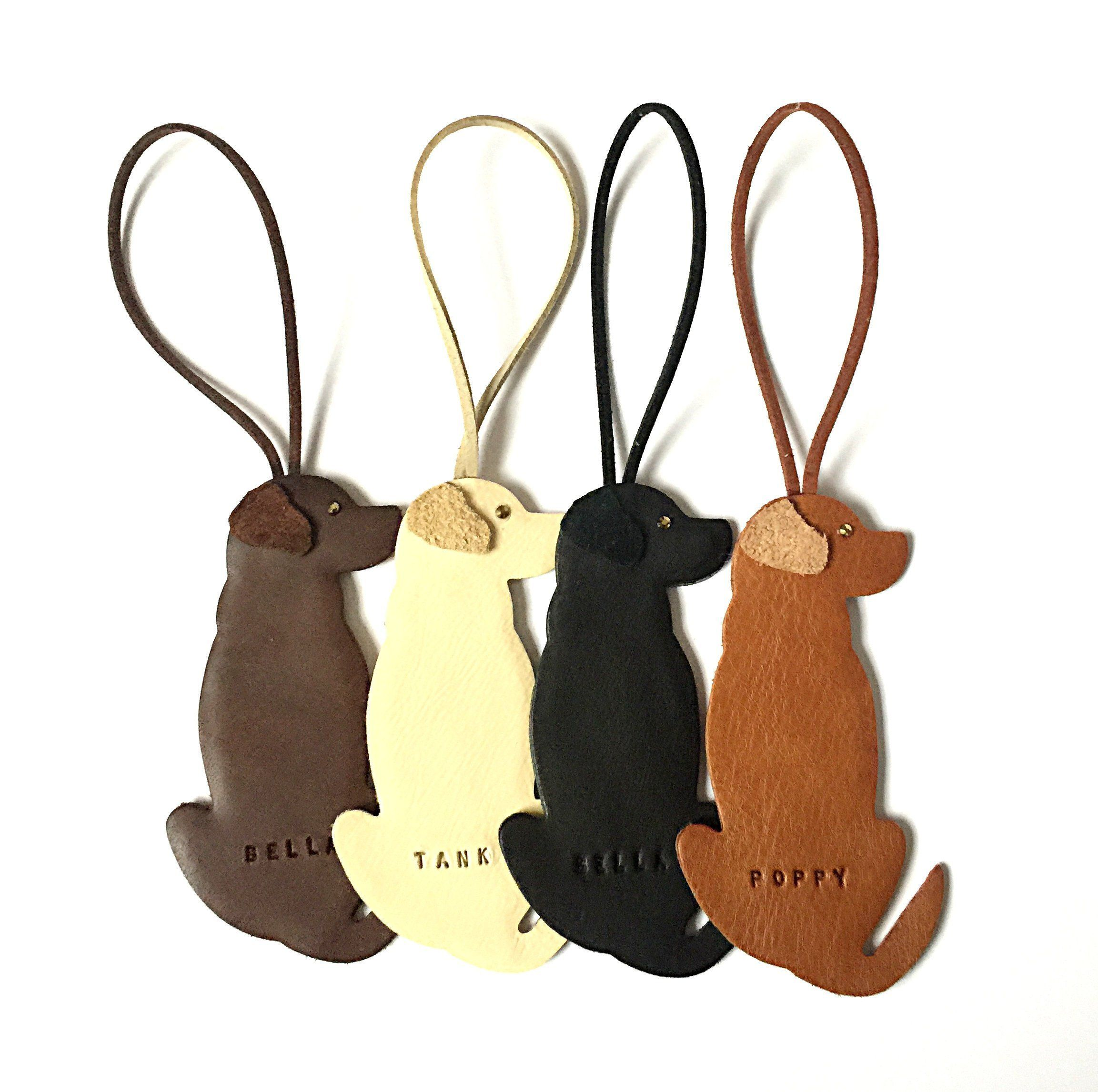 Labrador Ornament Leather Personalised Hanging Labrador