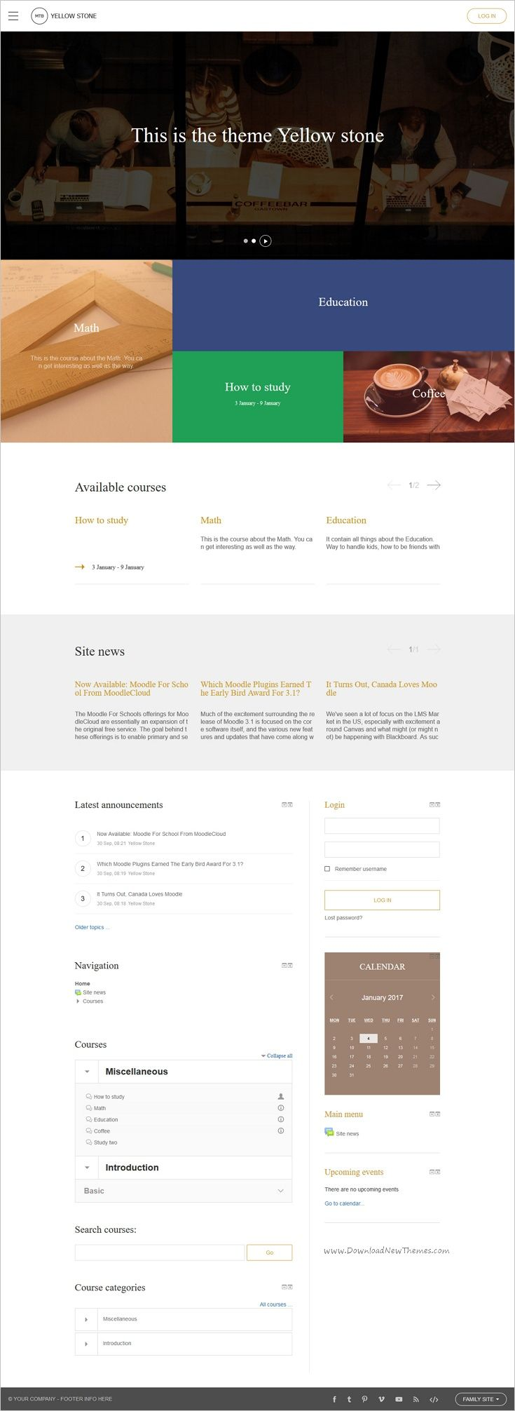 YellowSone is an innovative premium #moodle theme for #edtech ...