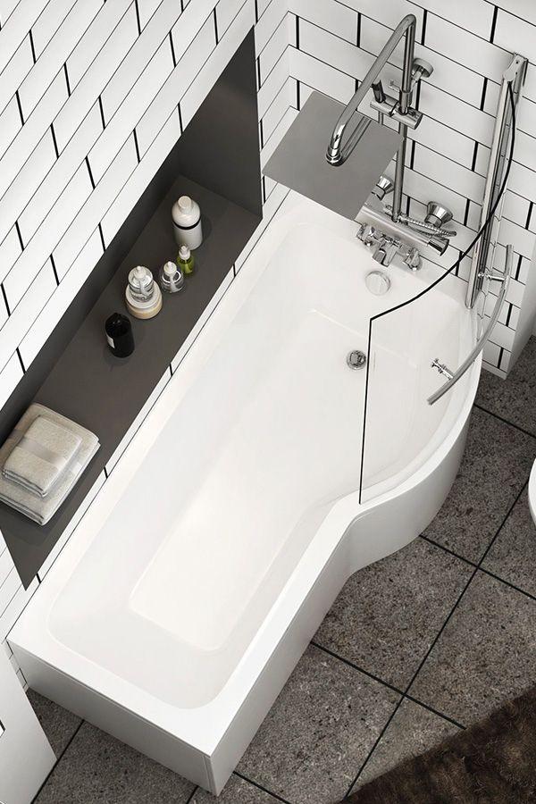 Abacus Bathroom 1600mm Single Ended Right Hand Bath Acrylic White Bathtub