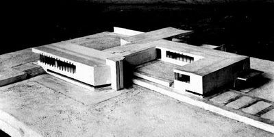 Casa di campagna in cemento armato 1923 con questo for Case mies van der rohe
