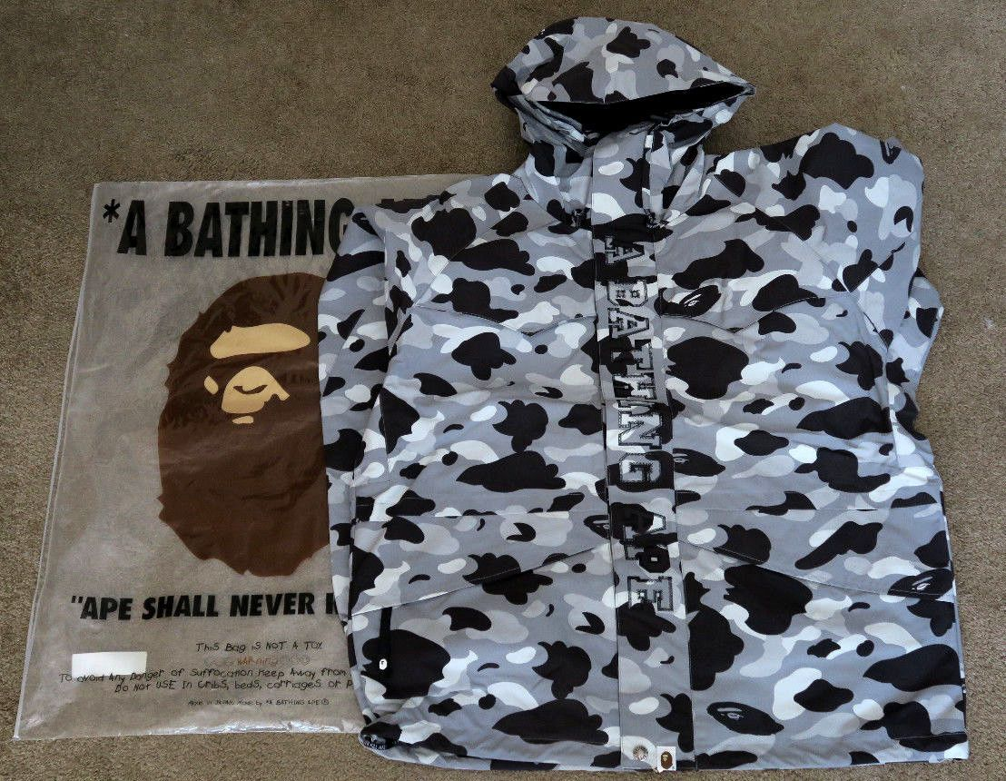 Unisex Shorts Japan Bape Shark Jaw Icon Pattern A bathing ape Pants Black Size