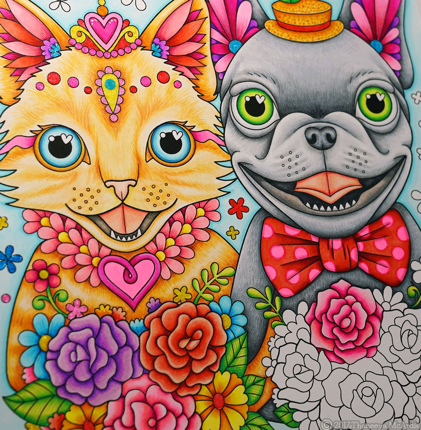 Dog Cat In Love From Thaneeya McArdles Power Of Coloring Book