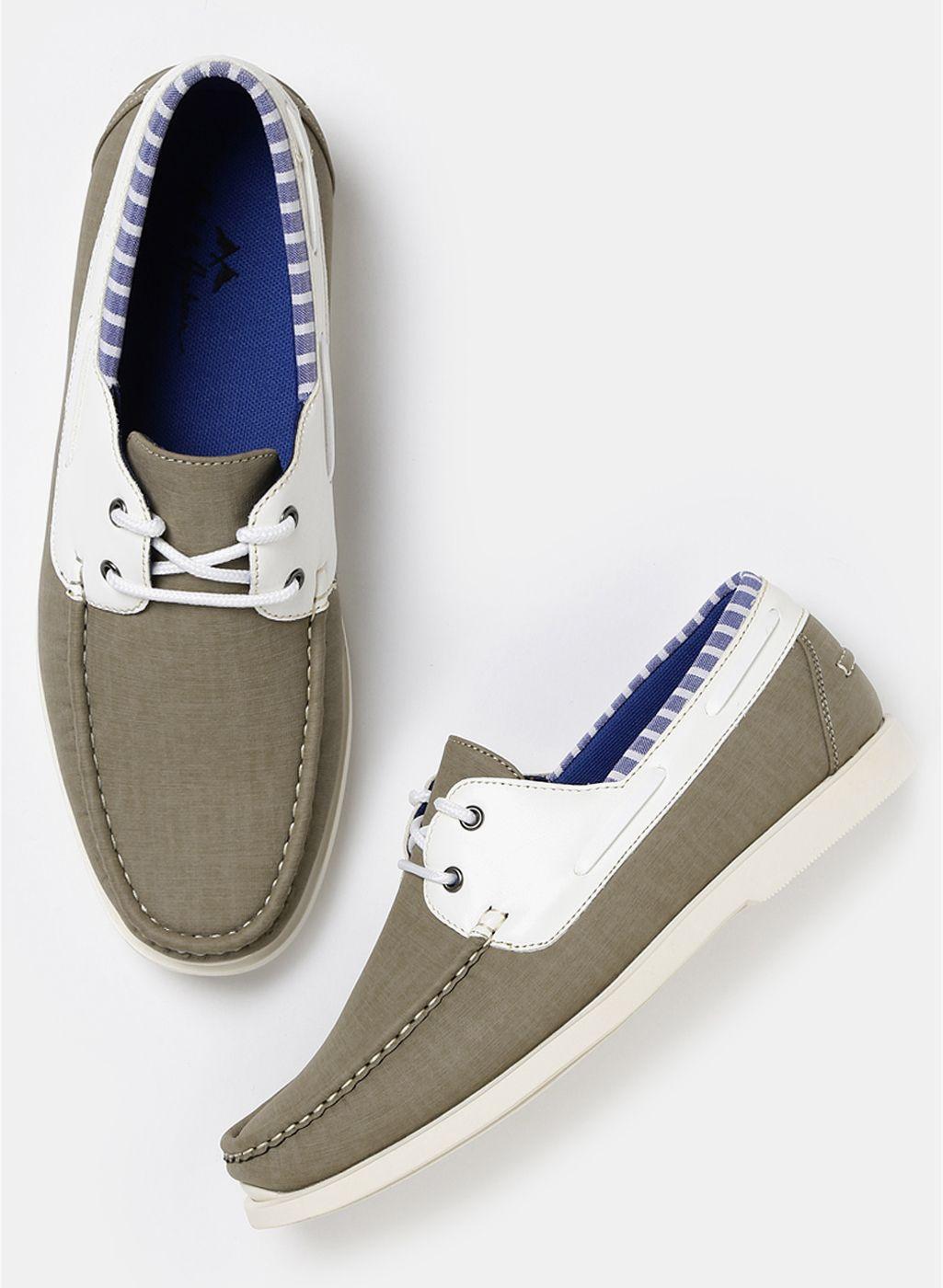 Mast & Harbour #Olive #BoatShoes #CasualFootwear #MenFashion