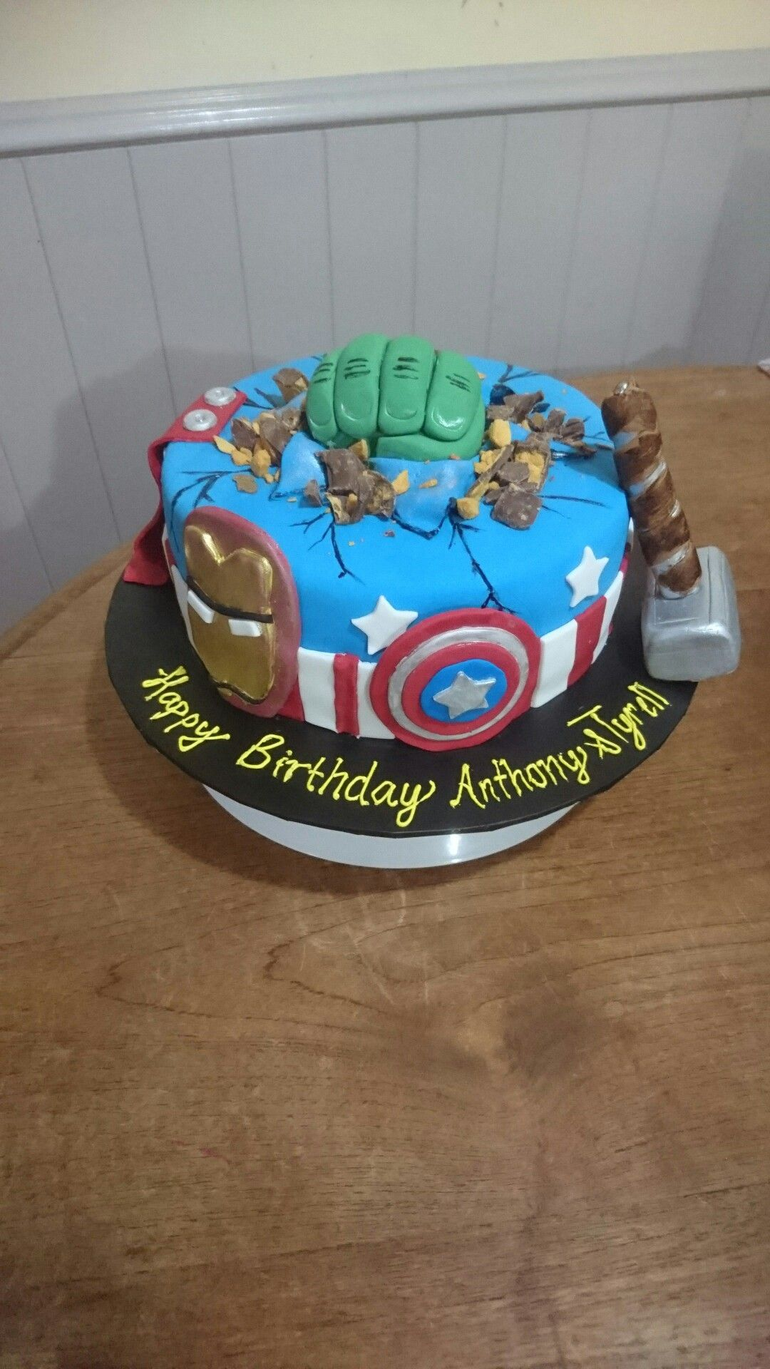 Avengers Hulk Smash Birthday Cake Jnv Birthday Pinterest Hulk
