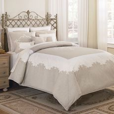 Bedding - needs a bed skirt and more variations in the pillows