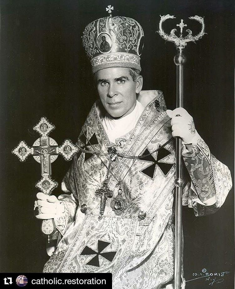 "Extraordinary Form on Instagram: ""#Repost @catholic.restoration ・・・  Venerable Fulton Sheen. Who was a very… 