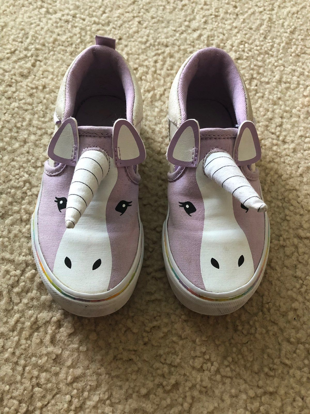 Girls Size 12 unicorn vans! These are