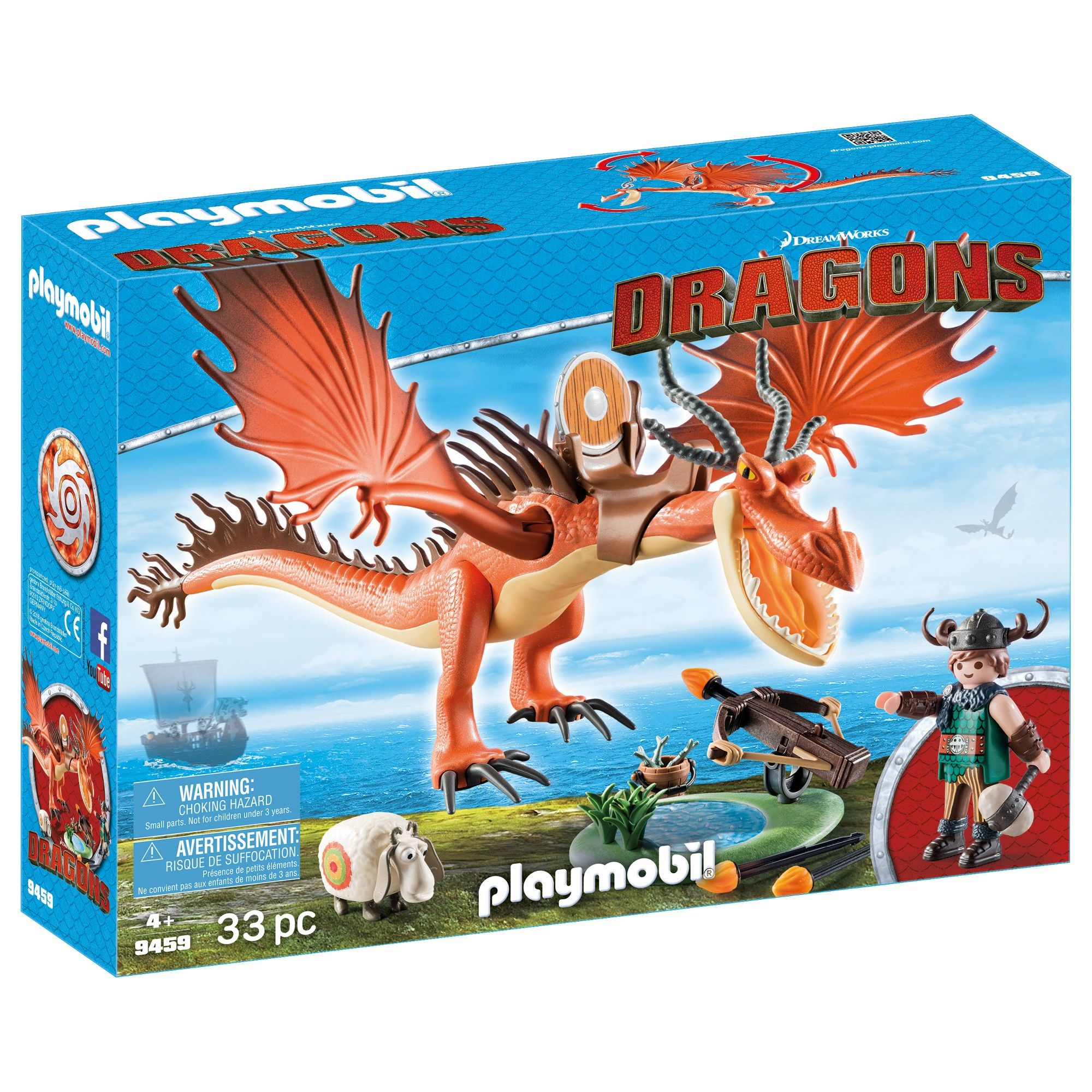 Playmobil Snotlout And Hookfang Multi Colored How Train Your Dragon Dreamworks Dragons Dragon