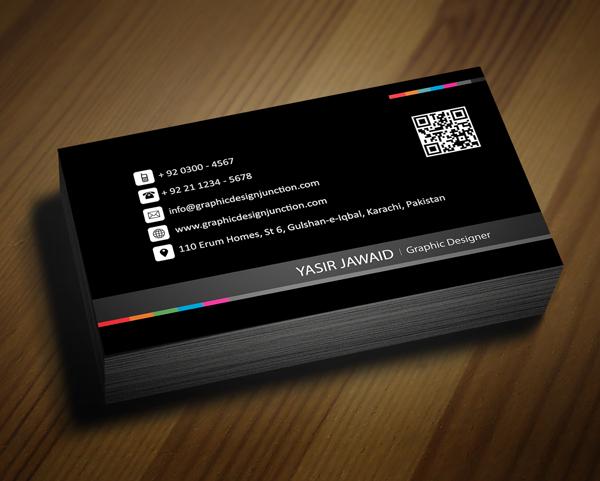 Creative business card black front #businesscardmockup #freepsdfiles #mockup #businesscard