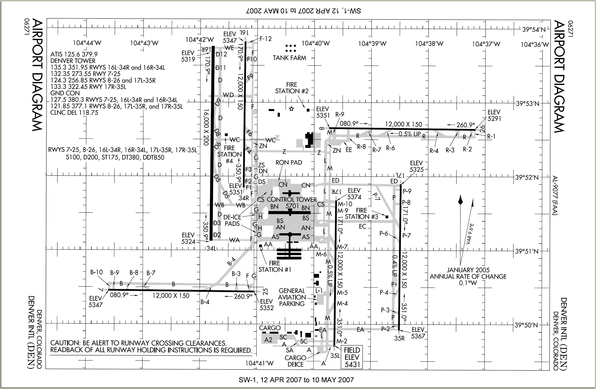 Denver International Airport diagram ~~ Some believe the runways ...