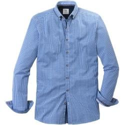 Olymp Trachtenhemd, body fit, Button-down, Blau, L Olympolymp
