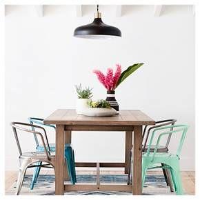 Gilford 60 Rustic Dining Table Gray Threshold Beach