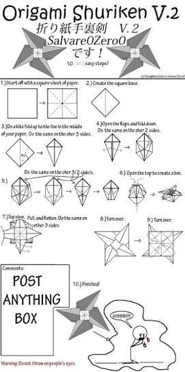 Resultado De Imagen Para Origami Shuriken Pinterest
