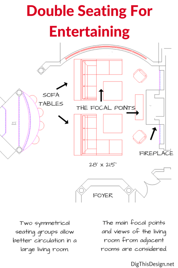 Furniture Layouts For A Large Living Room Large Living