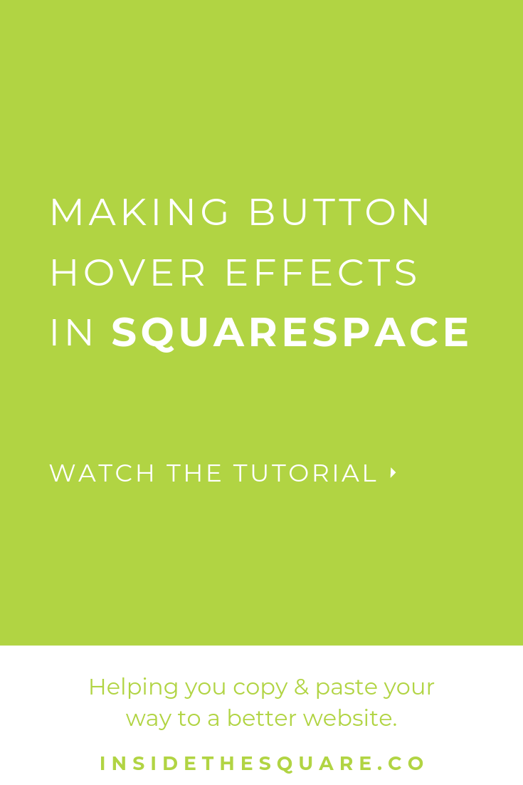 Underline Button Hover Effects | Resources from InsideTheSquare