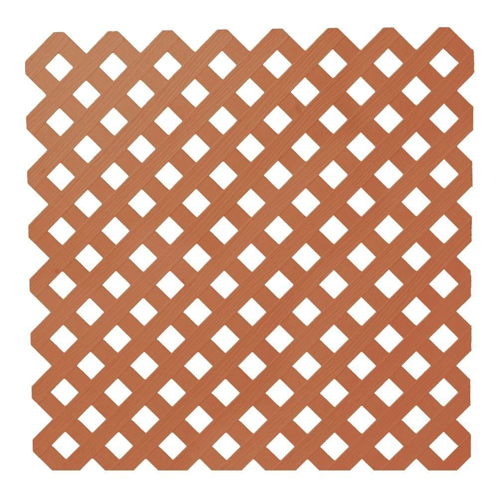 Suntrellis 4 Feet X8 Feet Privacy Plus Brown Lattice Panel The