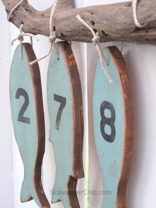 Pallet Wood Fish House Numbers House Numbers Ceramic House Numbers Fish House