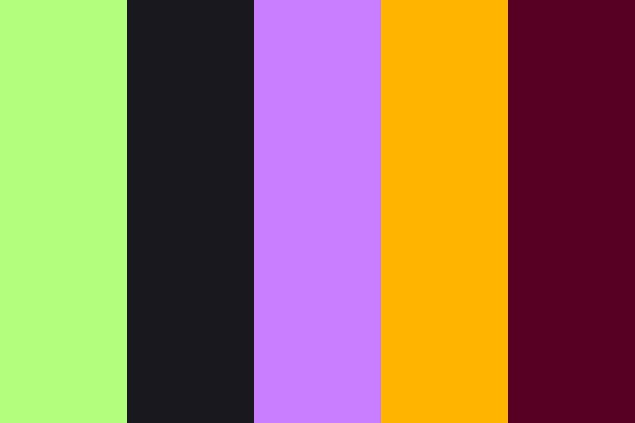 Halloween 2020 Colors Toxic Halloween Candy Color Palette in 2020   Halloween color