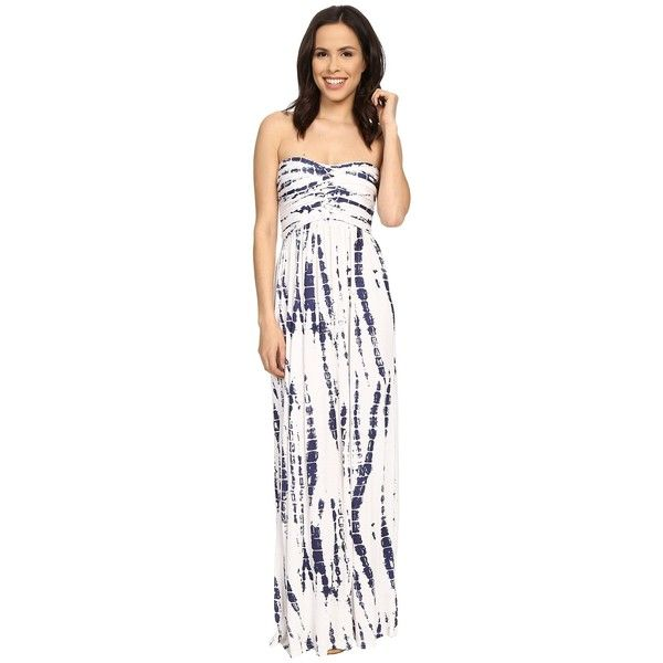 6600f1ebbe78 Culture Phit Liliana Maxi Dress Women's Dress ($69) ❤ liked on Polyvore  featuring dresses, white floor length dress, smocked dresses, strapless  dress, ...