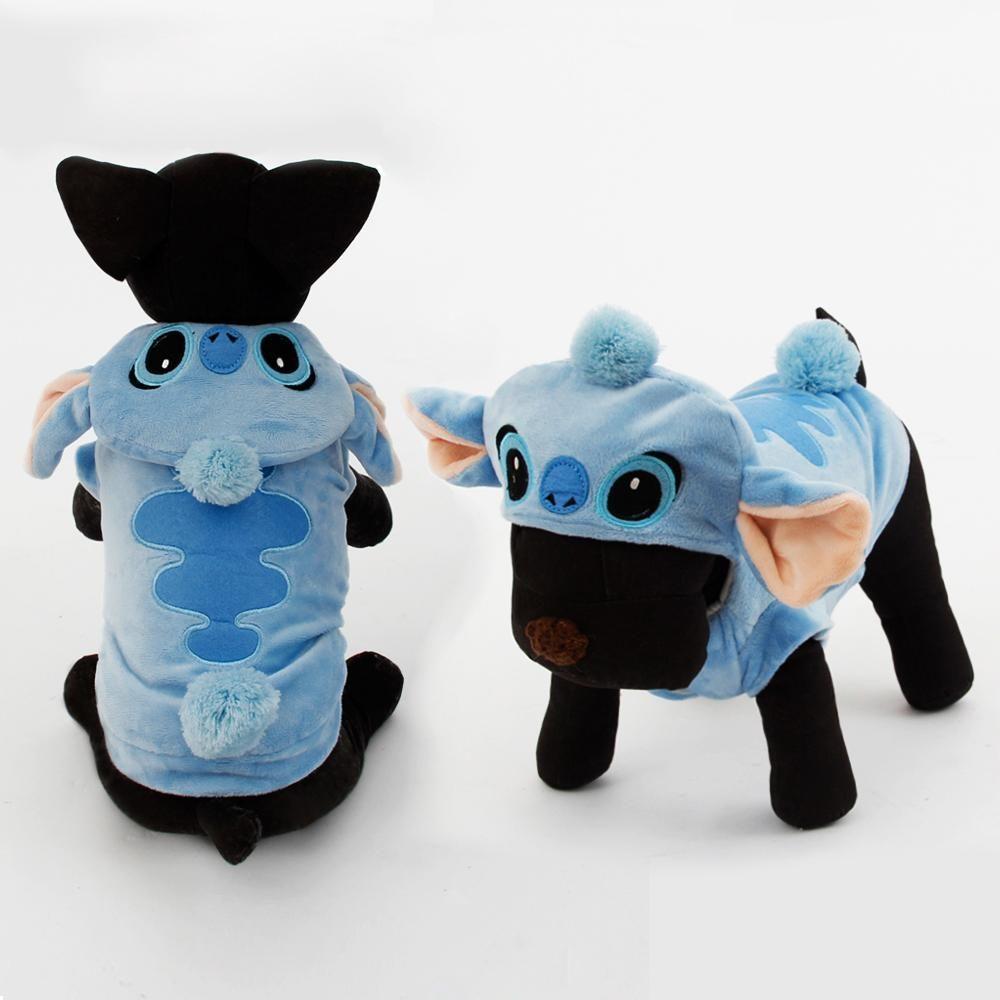 Cute Stitch Pet Halloween Costume Dog Winter Warm Clothes Puppy ...