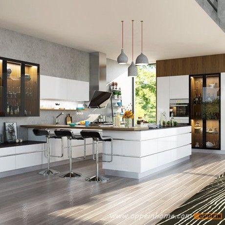 Modern High Gloss White Lacquer Kitchen Cabinet Op16 L19 Contemporary Kitchen Modern Kitchen Kitchen Design