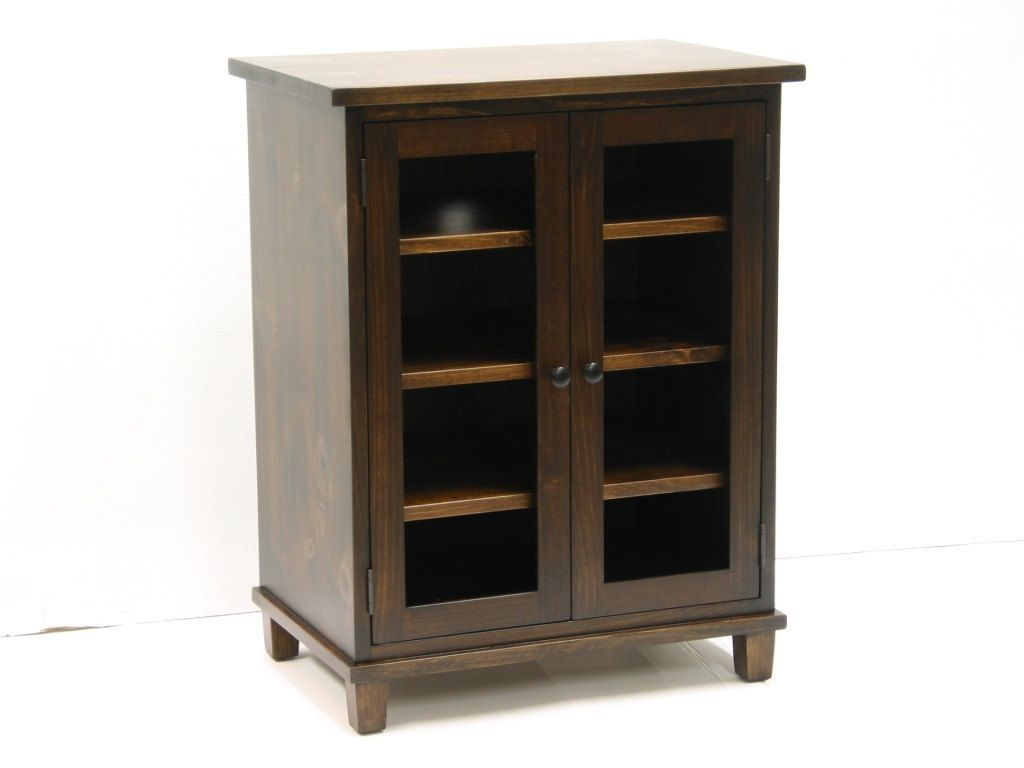 Inspirational Small Stereo Cabinets with Glass Doors