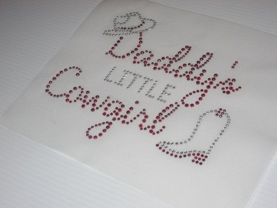 Diy Heat Transfer that says Daddys Little Cowgirl by cthorses66, $7.99