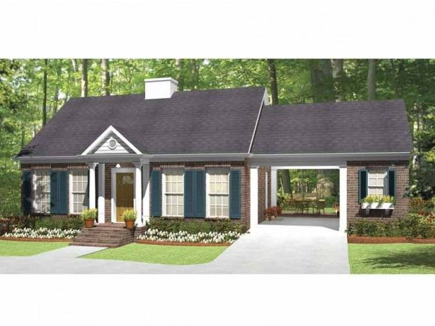 Southern Style House Plan 1 Beds 1 Baths 815 Sq Ft Plan 406 9619 House Plans Country House Plans House Floor Plans