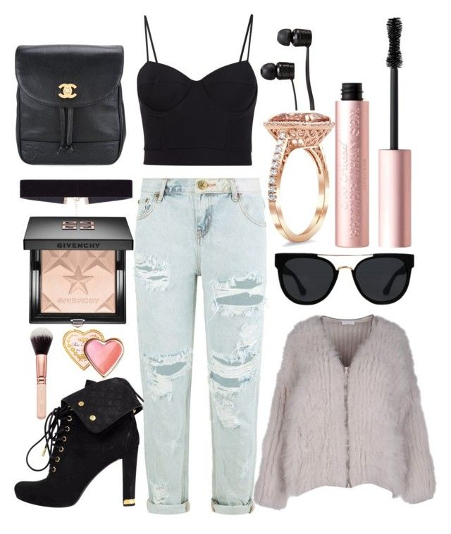 """""""Untitled #18"""" by oceantales ❤ liked on Polyvore featuring One Teaspoon, Vans, Brunello Cucinelli, Alexander Wang, Louis Vuitton, Chanel, Quay, 8 Other Reasons, Too Faced Cosmetics and Givenchy"""