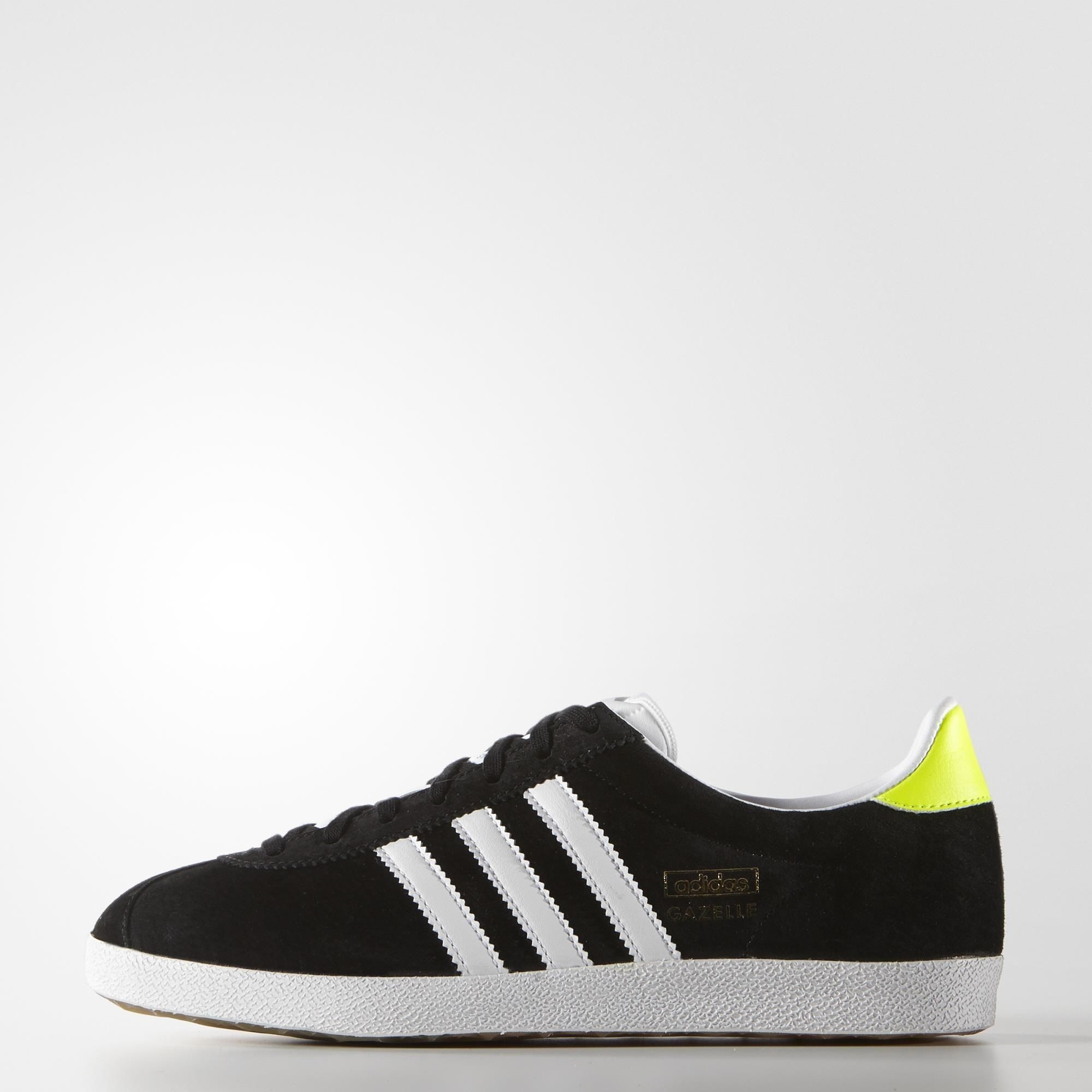 UK Shoes Store - adidas Gazelle Og Sneakers woman Basses Black (Core Black / White / Gold Met)