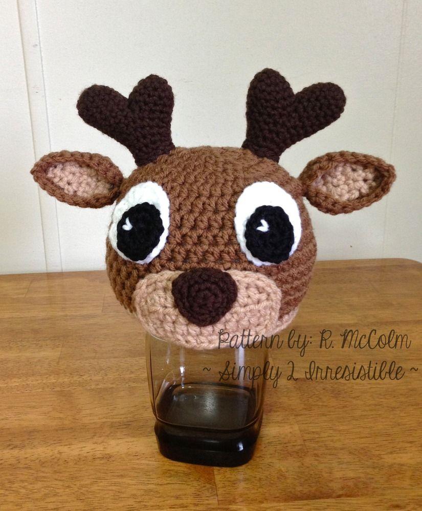 Image of Deer   Elk Crochet Hat Pattern Sombrero De Reno e38c50500c8