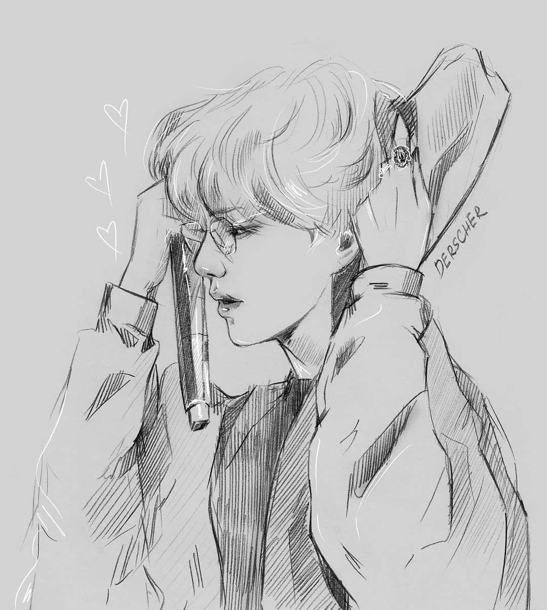 Kim Taehyung Bts Drawings Sketches Art