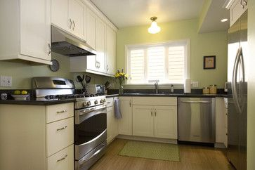 Bungalow Style Home Design Ideas Love The Celery Green Color Bungalow Kitchen Traditional Kitchen Home