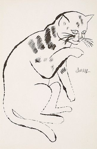 Andy Warhol / Sam with his Paw Up | CATS | Pinterest | Gato ...