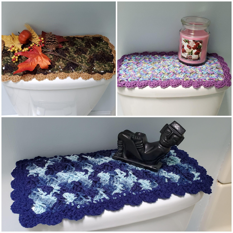 Toilet Tank Topper Crochet Toilet Tank Topper Bathroom Decor 3 Colors Ttt4a 4b 4c Black Decor Crafts To Make And Sell Spring Decor
