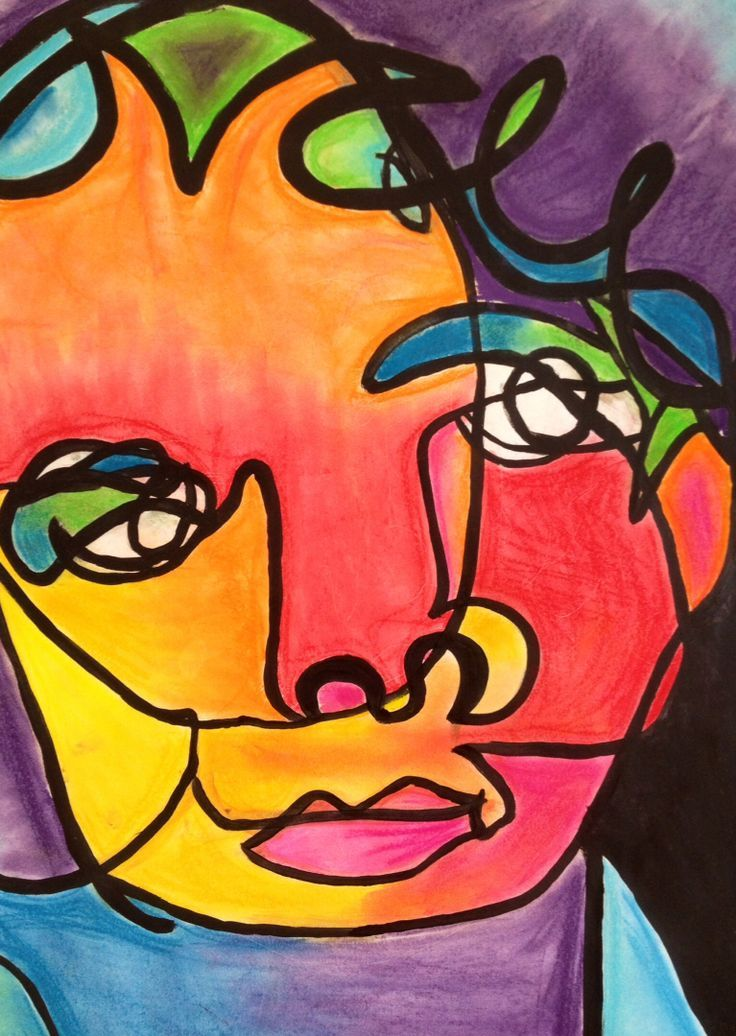 8th grade blind contour drawing | Watercolor art lessons ...