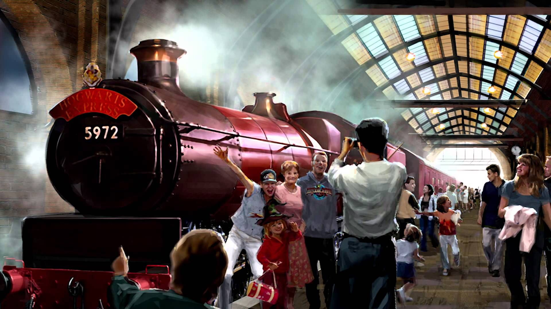 Diagon alley first look hogwarts express at universal