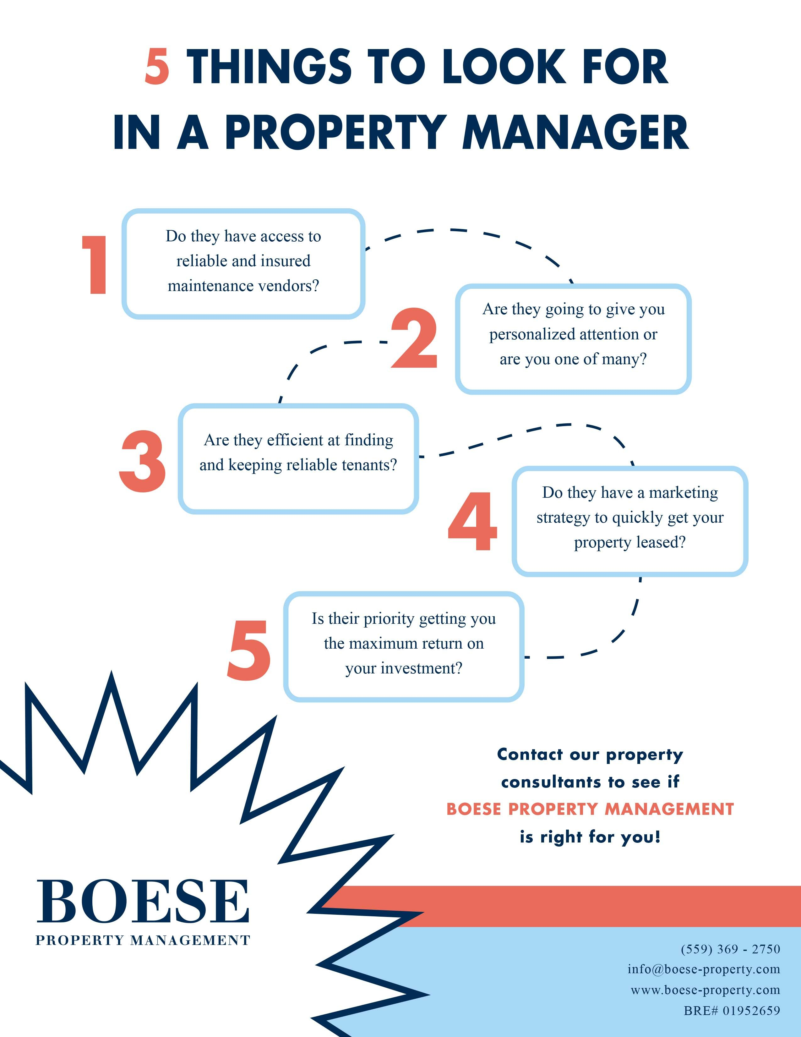 5 Things To Look For In A Property Manager By Boese Property