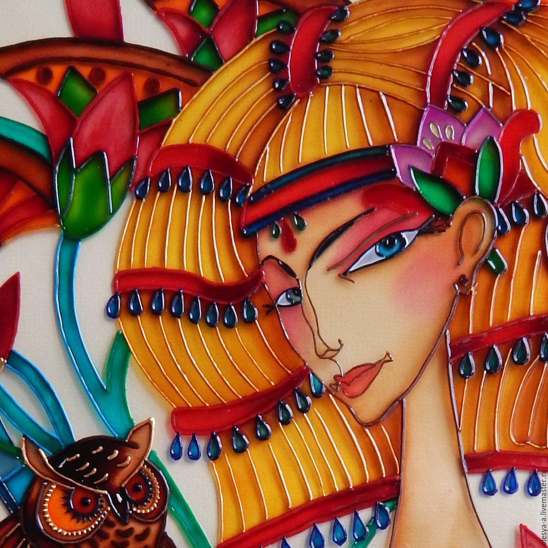 Купить Клеопатра - ручная работа handmade, ручная работа, ручная работа купить, Витражная роспись