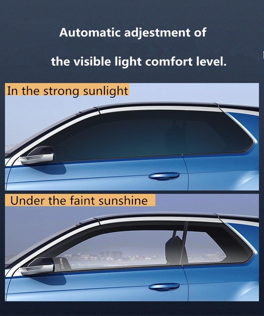 Sunice Sputter Solar Tint Film Sun Control Film Heat Insulation Photochromic Film Vlt Changed 73 43 Car Building Summer Use Smartautotasev Car Front Heat Insulation Car [ jpg ]