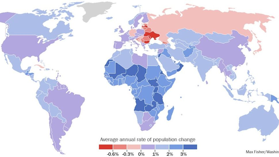 The Only Population Map You Need To Understand The World Map