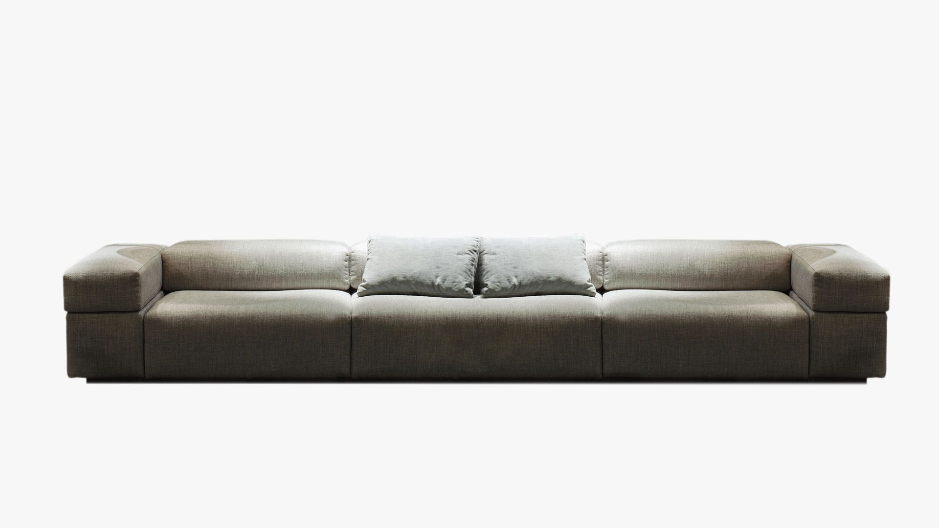 Square Shapes And Extra Softness, Opposites That Attract, For Brick Lane  Sofa With Base Flush With The Floor Designed By Christophe Pillet,