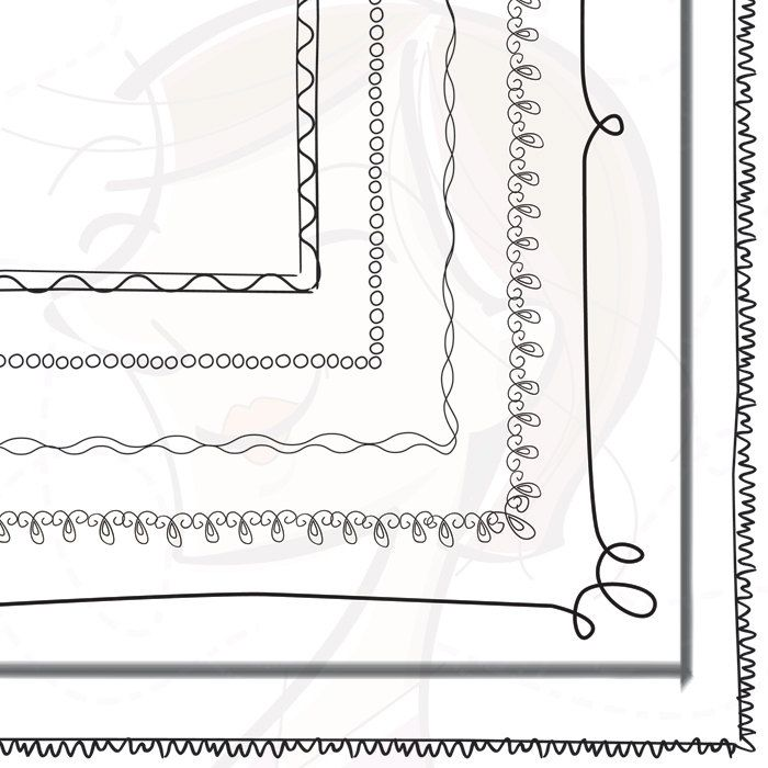 Whimsy Page Border Frames Digital Doodles Clipart 8 x 11 Whimsical ...