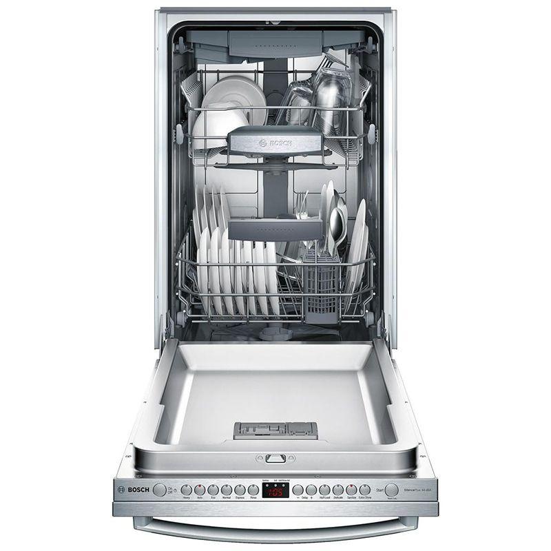 Bosch 800 Series 18 Dishwasher With 44 Dba Quiet Level 6 Wash Cycles Digital Controls Stainless Steel Pcrichard Com Spx68u55uc Top Control Dishwasher Steel Tub Built In Dishwasher